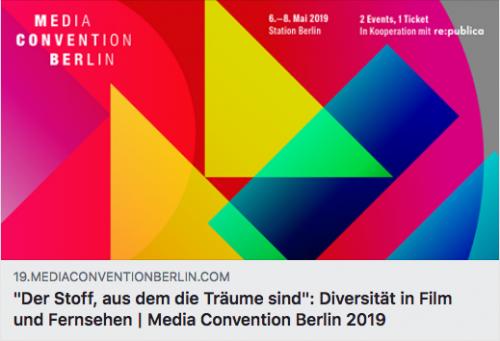 """Podiumsdiskussion """"Der Stoff, aus dem die Träume sind"""",  Media Convention Berlin"""