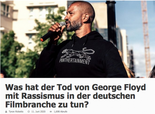 Was hat der Tod von George Floyd mit Rassismus in der deutschen Filmbranche zu tun?!